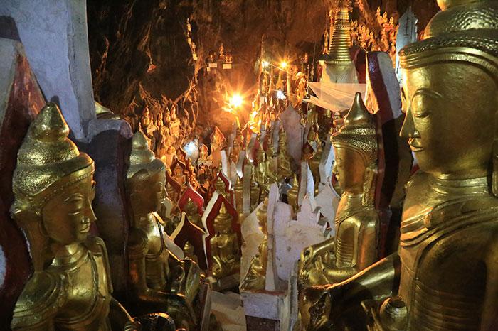 Budas de Pindaya Myanmar