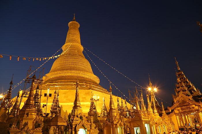 Pagoda en Yangon Myanmar