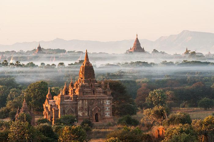 Sitio arqueologico de Bagan en Myanmar