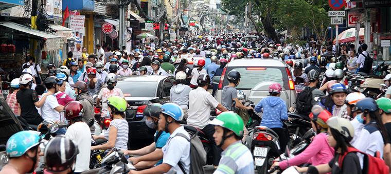 Circulacion caotica en Saigon
