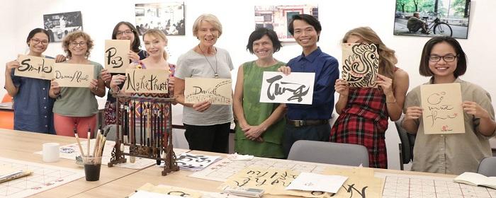 Club de caligrafía vietnamita