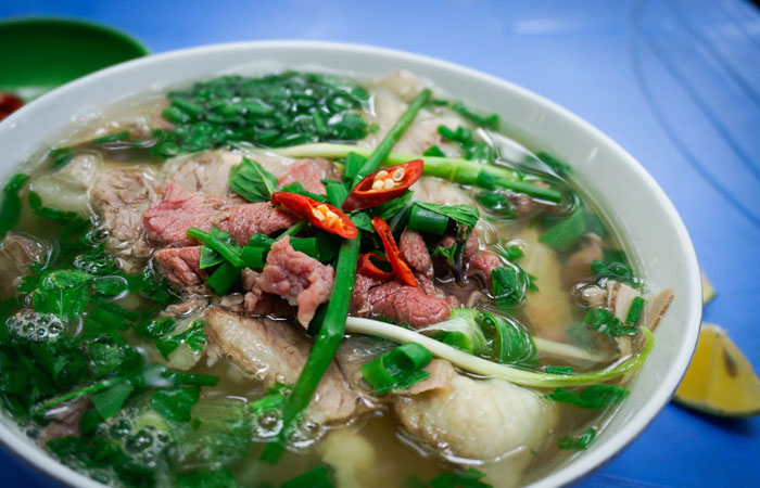 cocina callejera antiguo barrio hanoi sopa pho