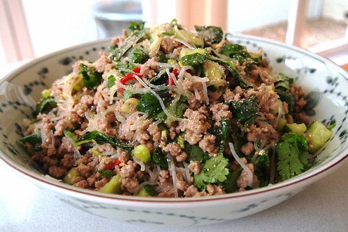 La comida en Muang Sing en Laos