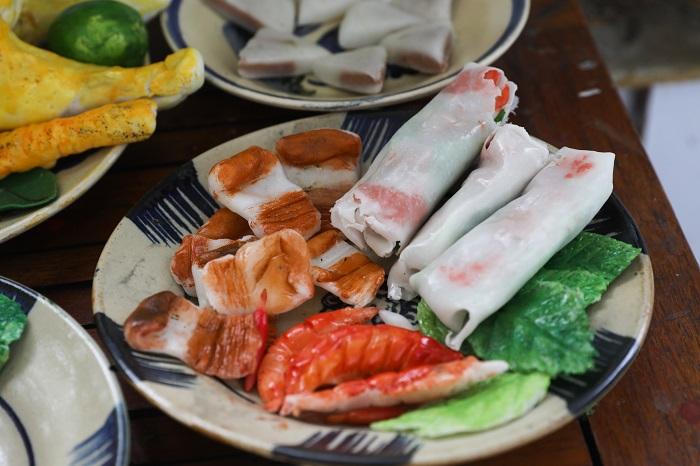 Comida tradicional durante el Tet carne