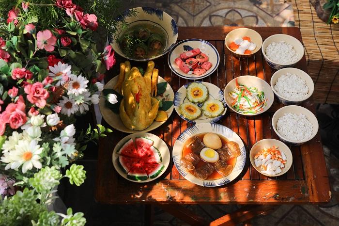 Comida tradicional durante el Tet en el sur