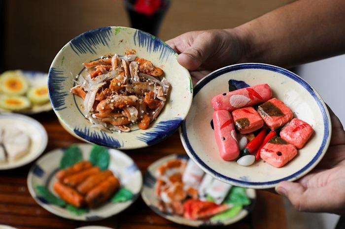 Comida tradicional durante el Tet tre