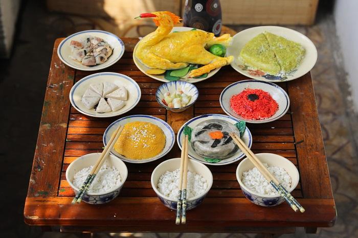 Comida tradicional durante el Tet
