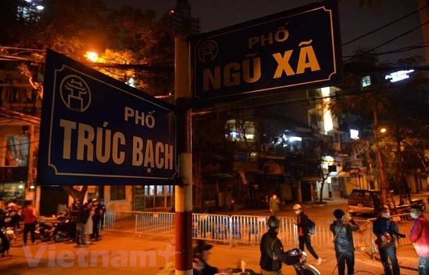 Calle truc bach en Hanoi coronavirus