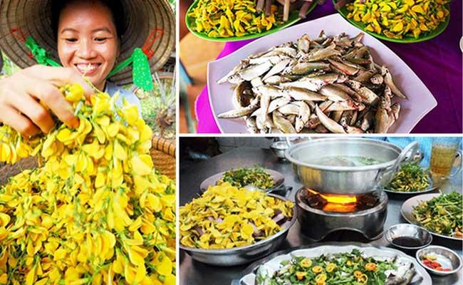 Cocina local en el delta del Mekong en Vietnam