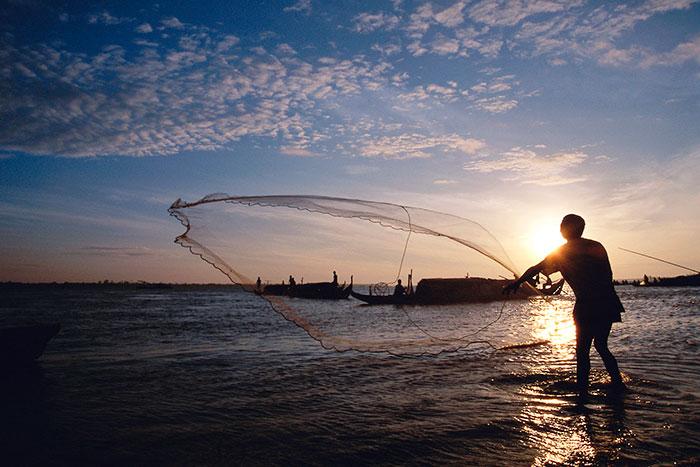 Crucero en el rio Mekong en Nom Pen
