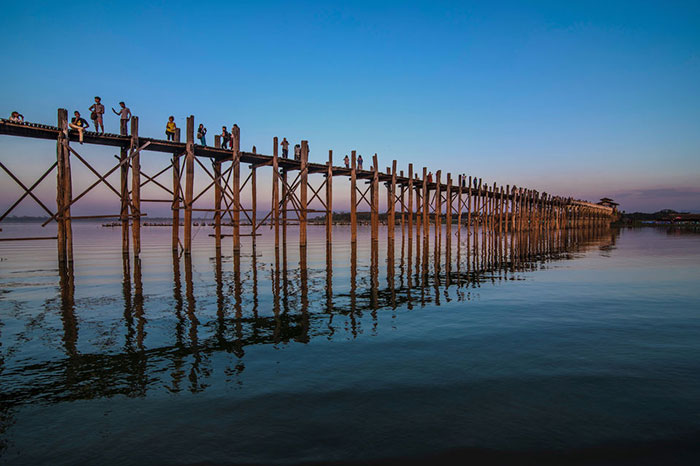 Puente U Bein en Birmania