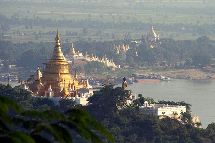 Sagaing antigua capital de Birmania
