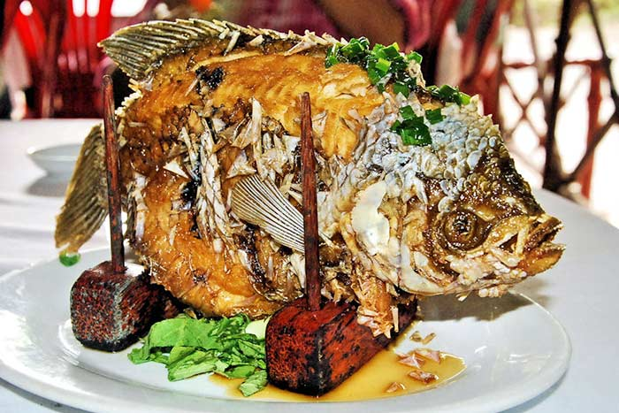 Gastronomia en crucero por el rio Mekong Vietnam