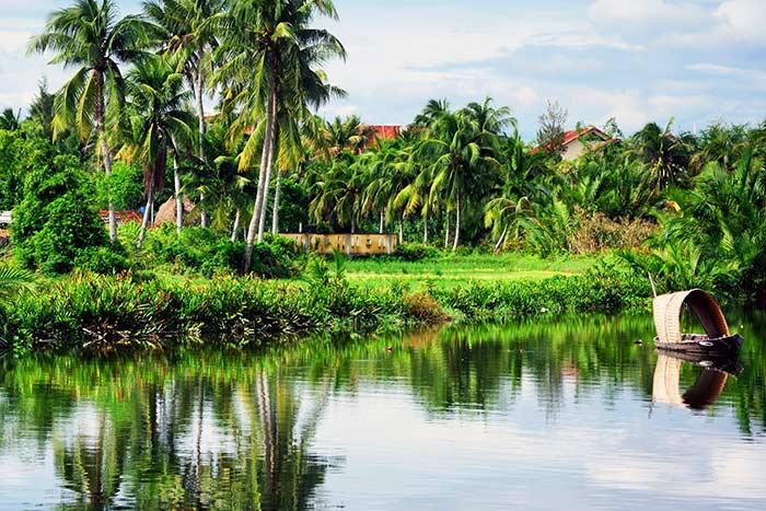 Paisaje en el rio Mekong Vietnam