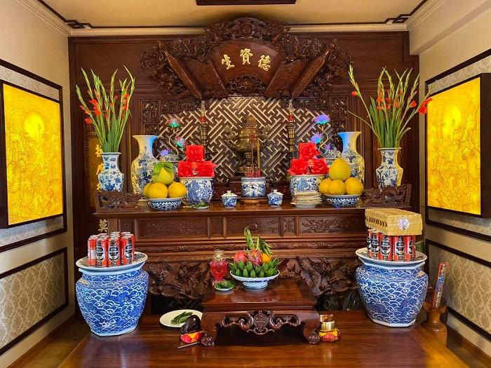 El culto a los antepasados en Vietnam altar moderno