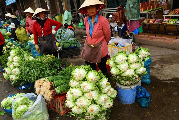 Mercado local en Dalat Vietnam