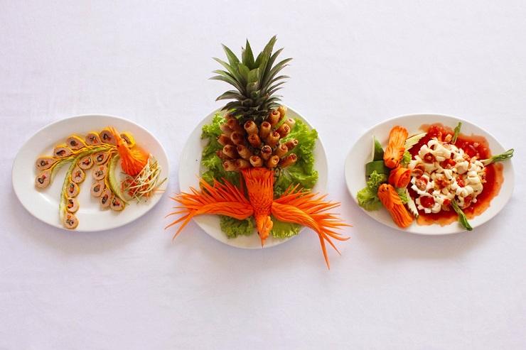 Decoracion de la comida real de Hue
