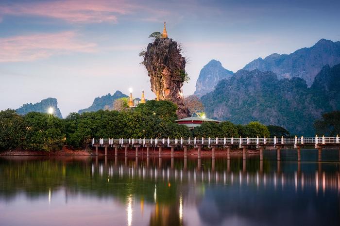 Hpa an en el sur de Myanmar