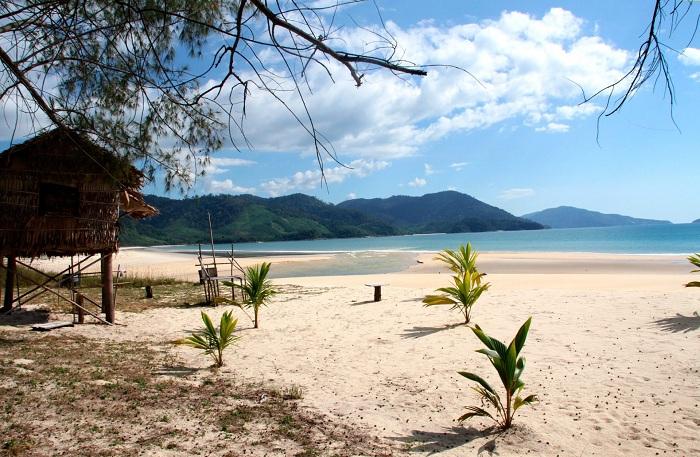 Playa Dawei en el sur de Myanmar