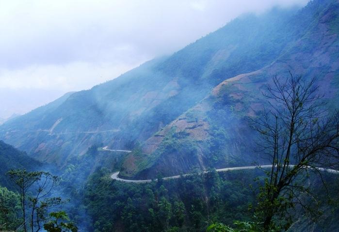 El paso Pha Din en Dien Bien Phu