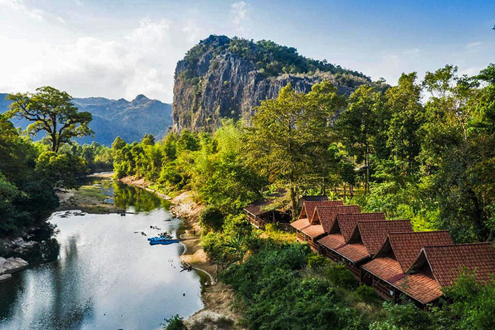 Spring River Resort en Laos