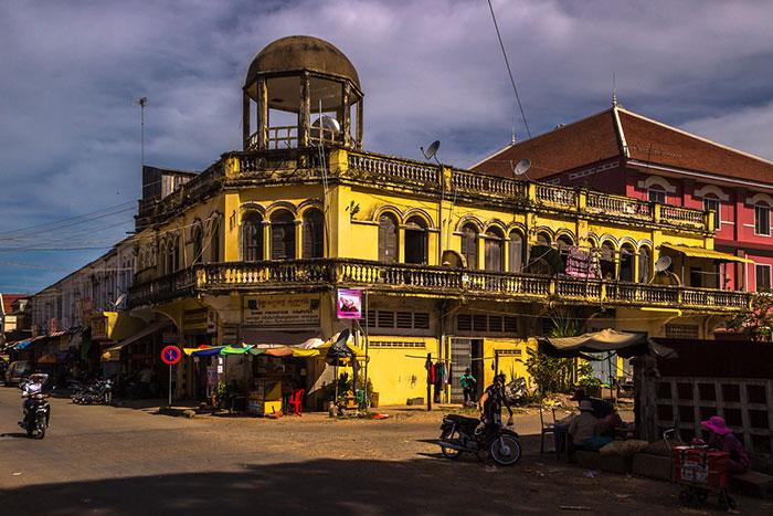 Edificios coloniales en Kratie