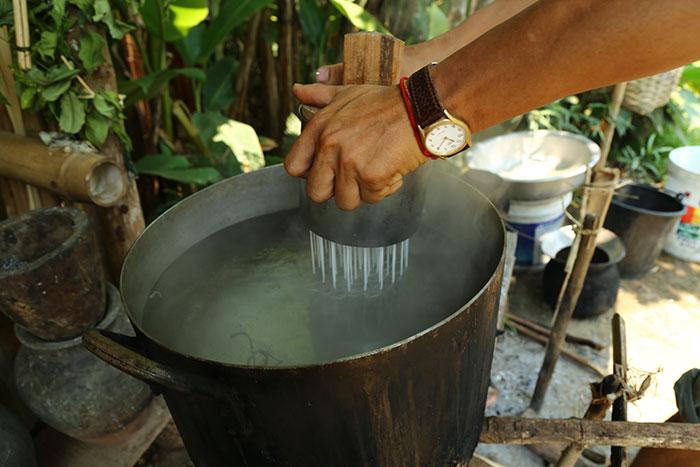 Elaboracion de arroz en Luang Prabang