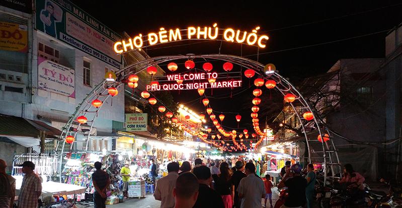Entrada al mercado nocturno de Phu Quoc Vietnam