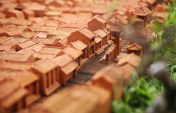 El pueblo de Hoi An en el parque terracota