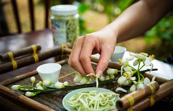 Almuerzo en la ciudad de Hue