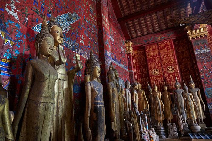 Estatua de buda del templo Vat Xieng Thong