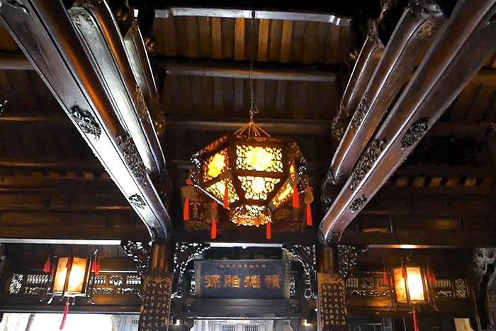 Estructura de la antigua casa phung hung en Hoi An