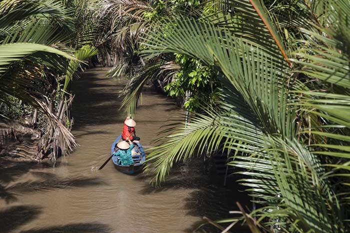 Arroyos en Ben Tre en el delta del rio Mekong Vietnam