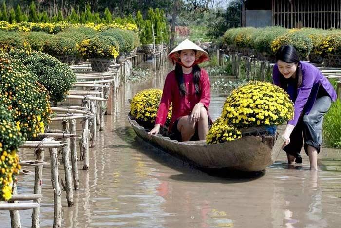 Paseo en Sadec en el delta del rio Mekong Vietnam
