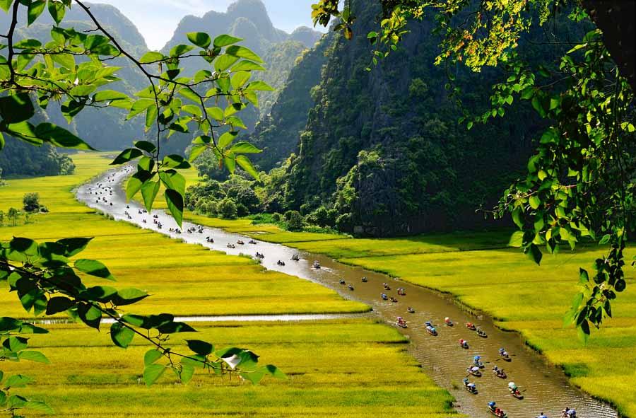Excursion en sampan en Tam Coc Ninh Binh