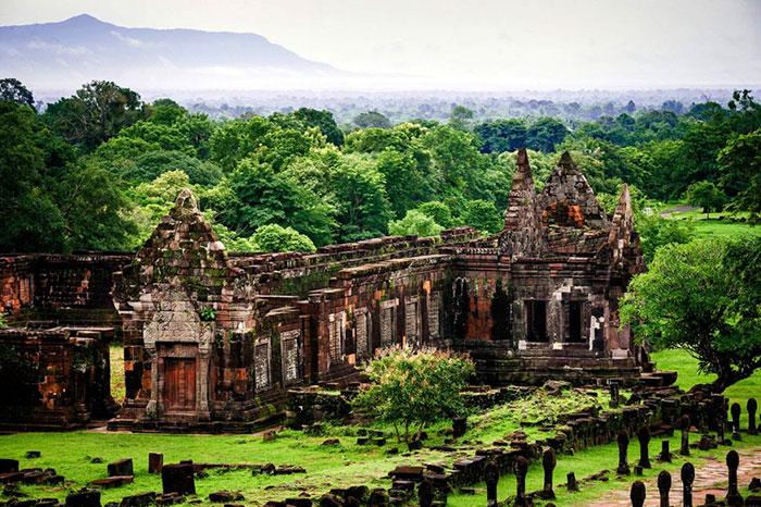 Sitio arqueologico en Vat Phou