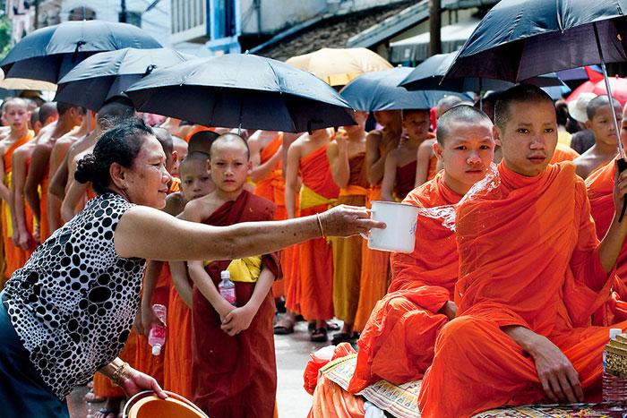 Fiesta tradicional laosiana
