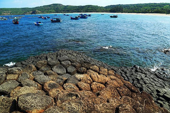 Formacion basaltica en Quy Nhon Vietnam
