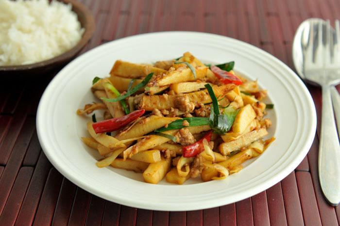 El bambu en la gastronomia vietnamita