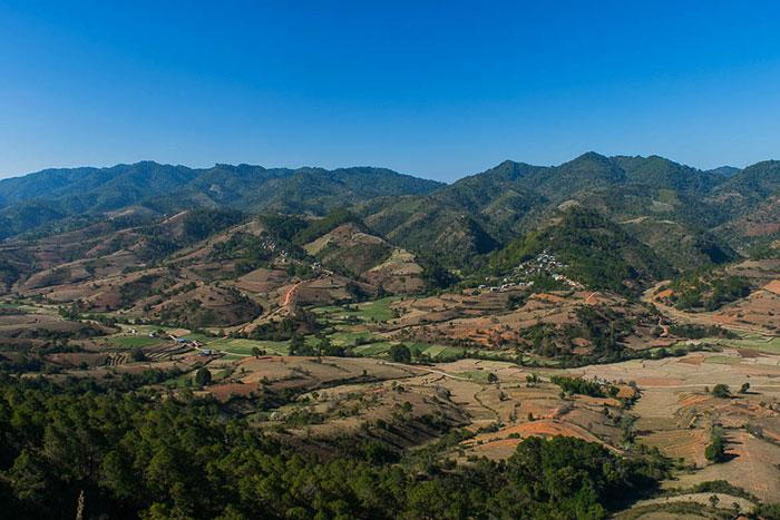 Colinas de Myanmar