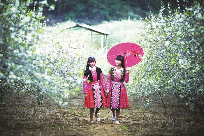las costumbres tradicionales del Tet en Vietnam montaña