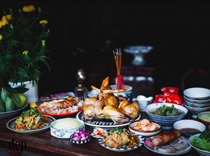 Las costumbres tradicionales del Tet en Vietnam comida
