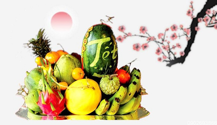 Las costumbres tradicionales del Tet en Vietnam fruta