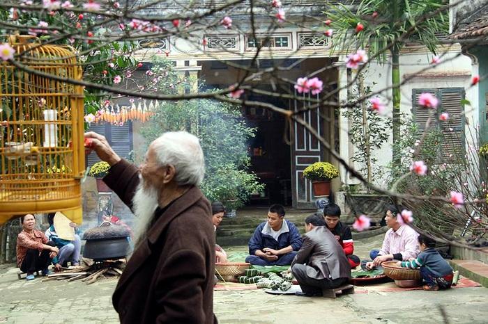 las costumbres tradicionales del Tet en Vietnam preparacion