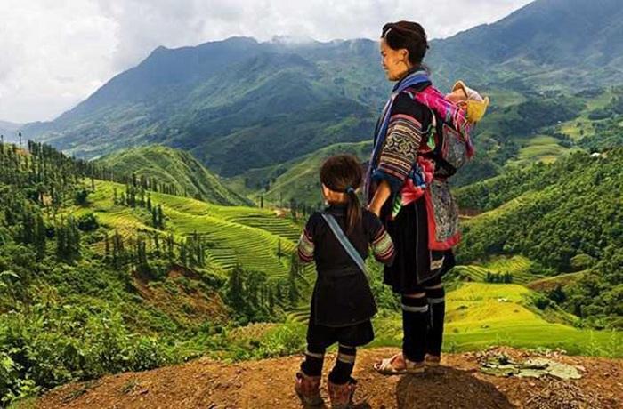 Etnia Hmong negro en Sapa