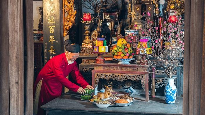 Los guardianes del hogar en Vietnam altar