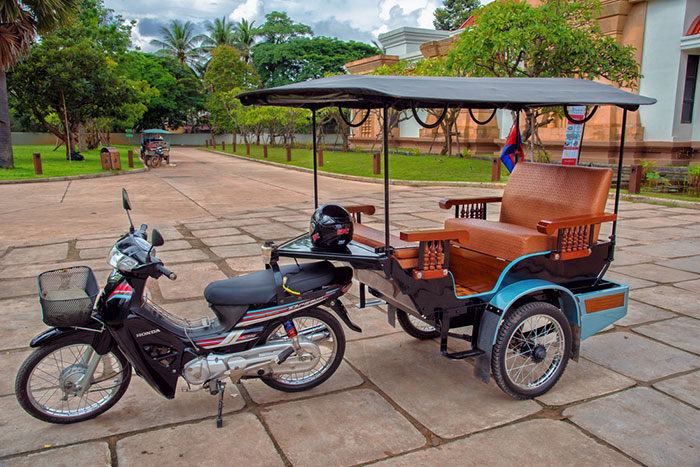 Tuk tuk en Siem Reap