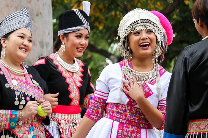 Pobladores hmong en Xieng Khouang Laos