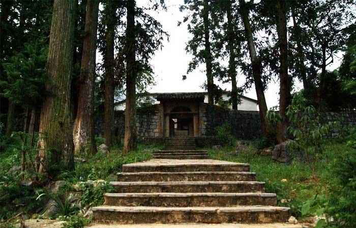 Entrada al palacio del rey Hmong en Ha Giang