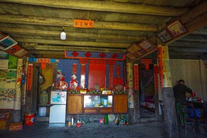 Altar en el pueblo de Thien Huong